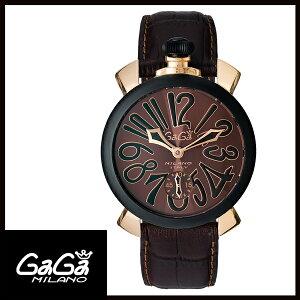【送料無料】GAGAMILANOガガミラノMANUALE48MMマニュアーレ48mmブラックPVD/カーボンメンズ腕時計5014.02S【新品】【RCP】【02P12Oct14】