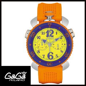 【送料無料】国内正規品GAGAMILANOガガミラノCHRONOSPORT45MMステンレスメンズ腕時計7010.04【新品】【RCP】【02P12Oct14】