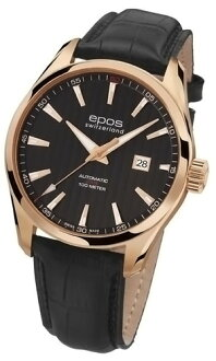 Men's automatic self-winding EPOS passion date 3401 RGPBK fs3gm