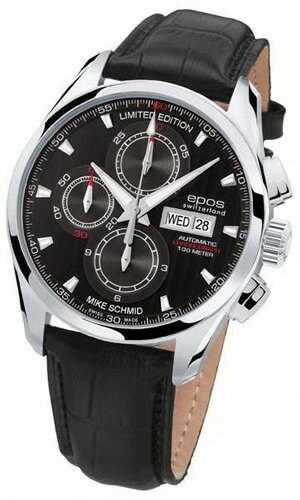 World limited 2010 EPOS men's automatic self-winding show Mitt passion chronograph 3406 BK LTD 2010