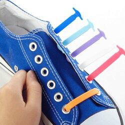 【メール便送料無料】女の子男の子靴靴紐スニーカーキッズ子供ゴム紐便利グッズほどけない取り付け簡単レインボーブラックホワイト