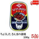 送料無料 ちょうした さんま蒲焼 EO 100g×5缶 ポイント消化 缶詰 缶詰め かんづめ カンヅメ