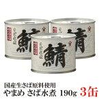 高木商店 やまめ さば水煮 190g×3缶(生さば原料 フレッシュパック 缶詰め 国産 日本産 サバ 鯖)