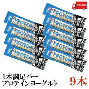 送料無料 アサヒグループ食品 1本満足バー プロテインヨーグルト×9本 (プロテインバー)