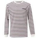 アウトレット価格 Quiksilver クイックシルバー メンズ ボーダー 長袖Tシャツ Tシャツ ティーシャツ