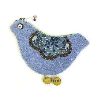 Happy Blue Bird Pouch