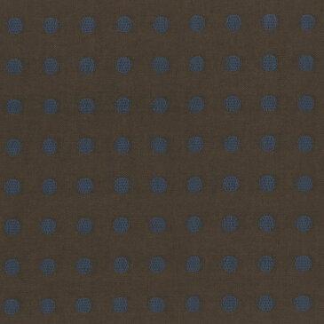 ★2018-02-A08 30cm~ | 生地 パッチワーク キルト 斉藤謠子 手作り 布 布地 材料 裁縫 ハンドメイド 手芸 アップリケ ピースワーク パッチワーク生地 服 小物 綿 先染め 水玉 茶 ターコイズ カットクロス