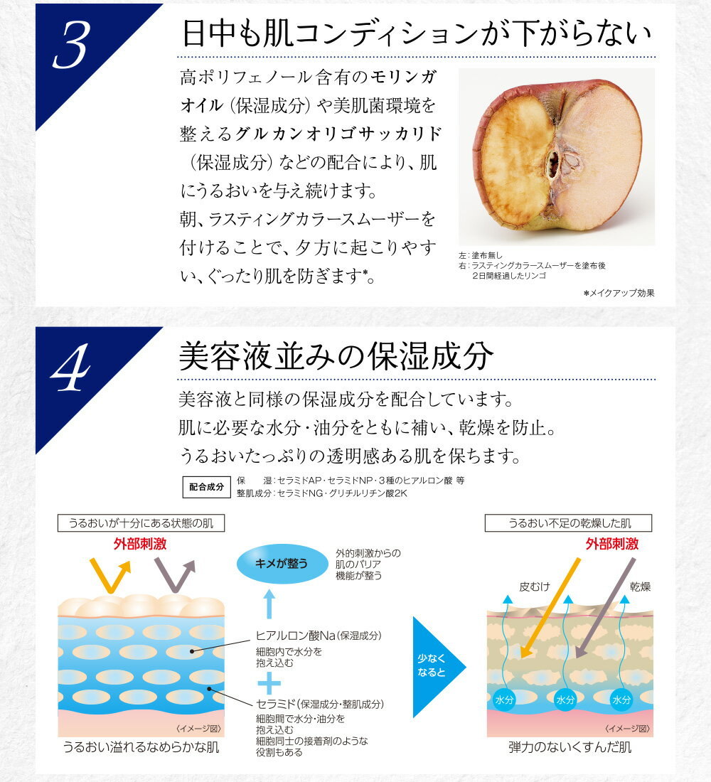 Quince Lasting Color Smootherの特徴 3,4