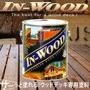 インウッドはウッドデッキの専用塗料です。サーっと1度塗るだけで、木材の奥深くまで浸透し、強...