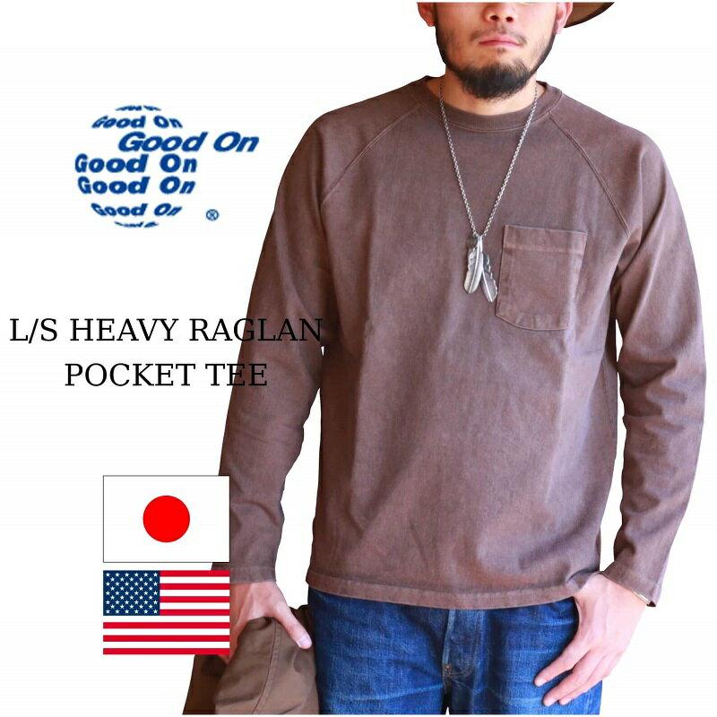 トップス, Tシャツ・カットソー Good On LS HEAVY RAGLAN POCKET TEE Tee P-