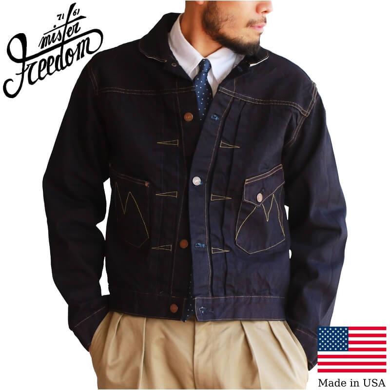 メンズファッション, コート・ジャケット MISTER FREEDOM DOUBLE INDIGO DENIM RANCH BLOUSE