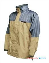 【送料無料】CSレインジャケット/PVCコーティング強力防水レインウェア/襟に収納フード付[全5色][S,M,L,LL,3L,4L]<トオケミ>