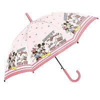 女の子 傘 キッズ 傘 女の子 55cm 傘 子供用 傘 かわいい ジャンプ 小学生 ディズニー ミッキー ミニー