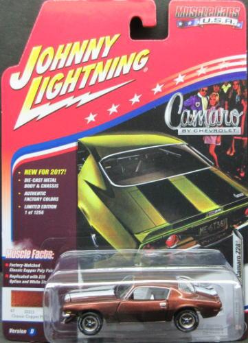 1/64 ジョニーライトニング JOHNNY LIGHTNING MUSCLE CARS USA 2017 1970 Chevy Camaro Z28 シェビー カマロ