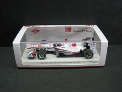 """定価の20%OFF1/43scale スパーク SPARK Sauber C30 Ferrari n""""16 China GP 2011 小林可夢偉 ザ..."""
