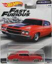 1/64 Hot Wheels ホットウィール Fast & Furious 1970 Chevrolet Chevelle SS ワイルドスピード シボレー シェベル アメ車 ミニカー