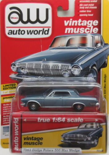 車, ミニカー・トイカー 164 Auto World 1963 Dodge Polara500 Max Wedge