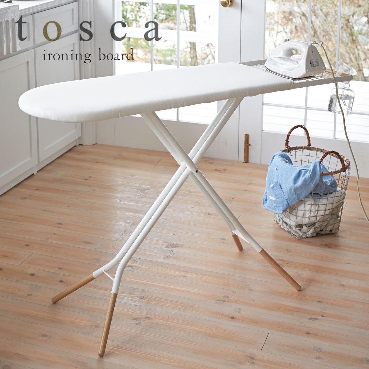 アイロン台 スタンド式 折りたたみ 平型 使いやすい tosca トスカ ホワイト 03152