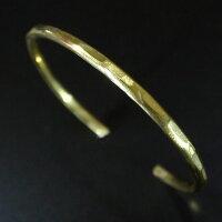 槌目たたき/バングル/Brass(真鍮)[オーダーメイド]