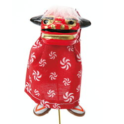 《 正月 装飾 》Parer/パレ 立獅子SS レッド 新年 インテリア 装飾