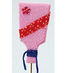 《 正月 装飾 》Parer/パレ ちりめん羽子板 ピンク (1セット3本入り) 新年