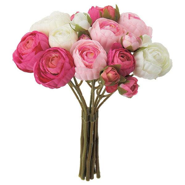 《 造花 》◆とりよせ品◆Asca(アスカ) ☆ラナンキュラスバンチ×14 つぼみ×4 (1束10本)インテリア インテリアフラワー フェイクフラワー シルクフラワー インテリアグリーン フェイクグリーン
