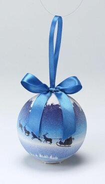 《 クリスマス ボールオーナメント 》花びし/ハナビシ 100MMLEDクリスマスボール(トワイライト) ブルーインテリア