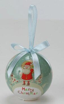 《 クリスマス ボールオーナメント 》花びし/ハナビシ 80MMLEDクリスマスボール(ハローサンタ) ブルーインテリア