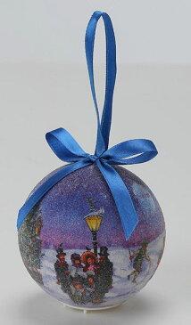 《 クリスマス ボールオーナメント 》花びし/ハナビシ 80MMLEDクリスマスボール(スノータウン) ブルーインテリア