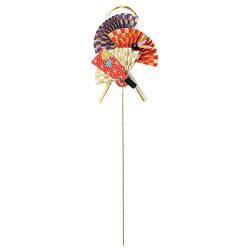 《 正月 装飾 》Asca/アスカ 扇・羽子板ピック 新年 インテリア 装飾
