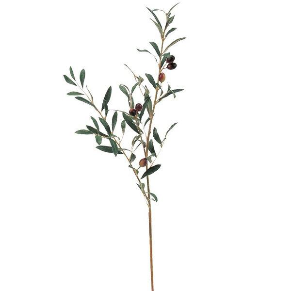 《 造花 グリーン 》◆とりよせ品◆Asca(アスカ) オリーブスプレー バーガンディインテリア