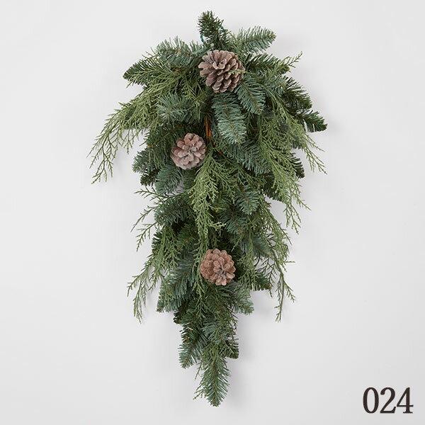 《クリスマスリース》◆とりよせ品◆花びしパインコーンティアドロップグリーン造花クリスマスリーススワッグハンガーツリークリスマスツリーもみの木葉っぱオーナメントクリスマス雑貨雪