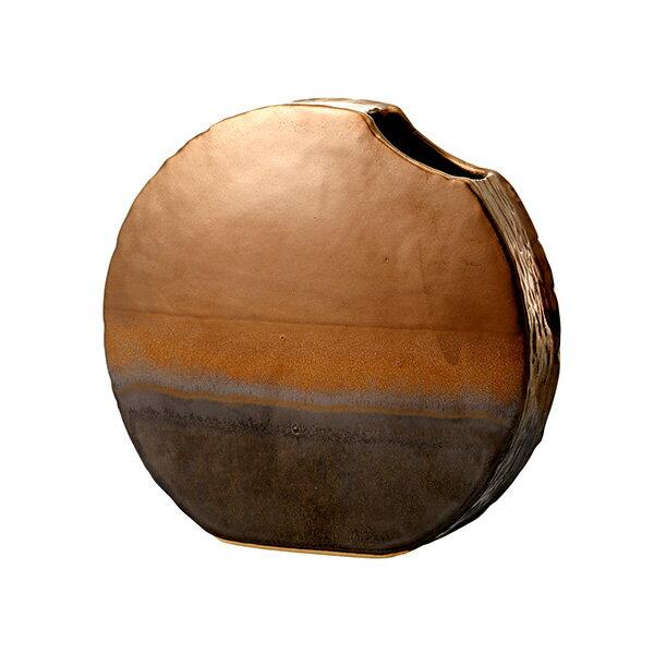花材・フラワーアレンジメント資材, アレンジメント用花器  Clay lunar mare() BROWN METALLIC 1(1)