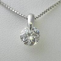 ダイヤモンドネックレスプラチナ稀少最高級品質FL(フローレス)鑑定書付き0.33ct