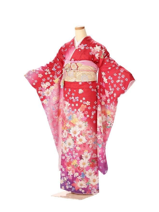 振袖 レンタル 成人式 ふりそで furisode 二十歳のお祝い せいじんしき 20歳 女性 着物 正絹 ピンク 383 【レンタル】