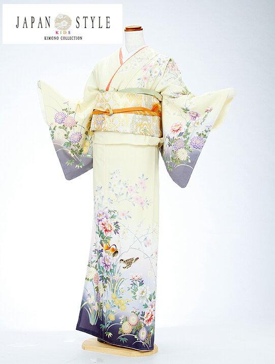 【レンタル】訪問着 ブランド japanstyle 黄色 祝福の鴛鴦 20代 結婚式 七五三 入学卒業 お宮参り k6146