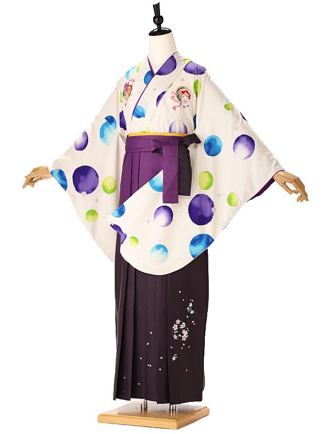 【レンタル】japanstyle ちはやふる【卒業式 袴 レンタル 女】大学生 専門学生 高校生 中学生 着物 3泊4日レンタル [往復送料無料] 白 purple fc9339