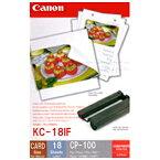 Canon カラーインク/フルサイズラベルセット KC‐18IF