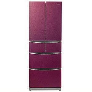 AQUA 6ドア冷蔵庫(400L・フレンチドア) AQR−FG40C(R)<ルビーレッド>【標準設置無料】