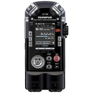オリンパス ハイレゾ音源対応 リニアPCMレコーダー 4GB LS‐100(ブラック)(送料無料)