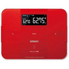 オムロン 【体組成計・体脂肪計付き】体重計「カラダスキャン」 HBF‐254C‐R<レッド>【送料無料】