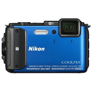 ニコン コンパクトデジタルカメラ COOLPIX AW130 AW130BL〈ブルー〉【送料無…