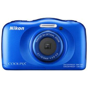ニコン コンパクトデジタルカメラ COOLPIX S33 S33BL〈ブルー〉【送料無料】