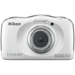 ニコン コンパクトデジタルカメラ COOLPIX S33 S33WH〈ホワイト〉【送料無料】
