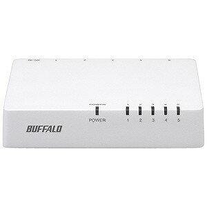 バッファロー スイッチングハブ「5ポート・100/10Mbps・ACアダプタ」ホワイト LSW4‐TX‐5EPL/WHD