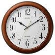 リズム時計工業 電波掛け時計「ピュアライトM25」 4MYA25SR06(送料無料)