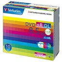三菱ケミカルメディア データ用DVD+R DL(2.4−8倍速/8.5GB)10枚パック DTR85HP10V1