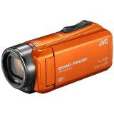 JVC・ビクター SD対応 64GBメモリー内蔵 フルハイビジョンビデオカメラ GZ‐RX600‐D (オレンジ)(送料無料)