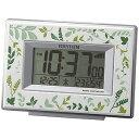 リズム時計工業 電波目覚まし時計「フィットウェーブD174」 8RZ174SR05 (緑)