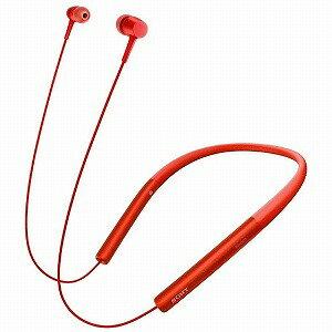 ソニー 「ハイレゾ音源対応」Bluetooth対応「マイク付」 カナル型イヤホン MDR‐EX750BT(R)シナバーレッド(送料無料)